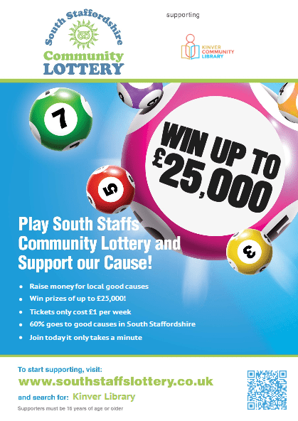 Try your luck with the local lottery and support us!