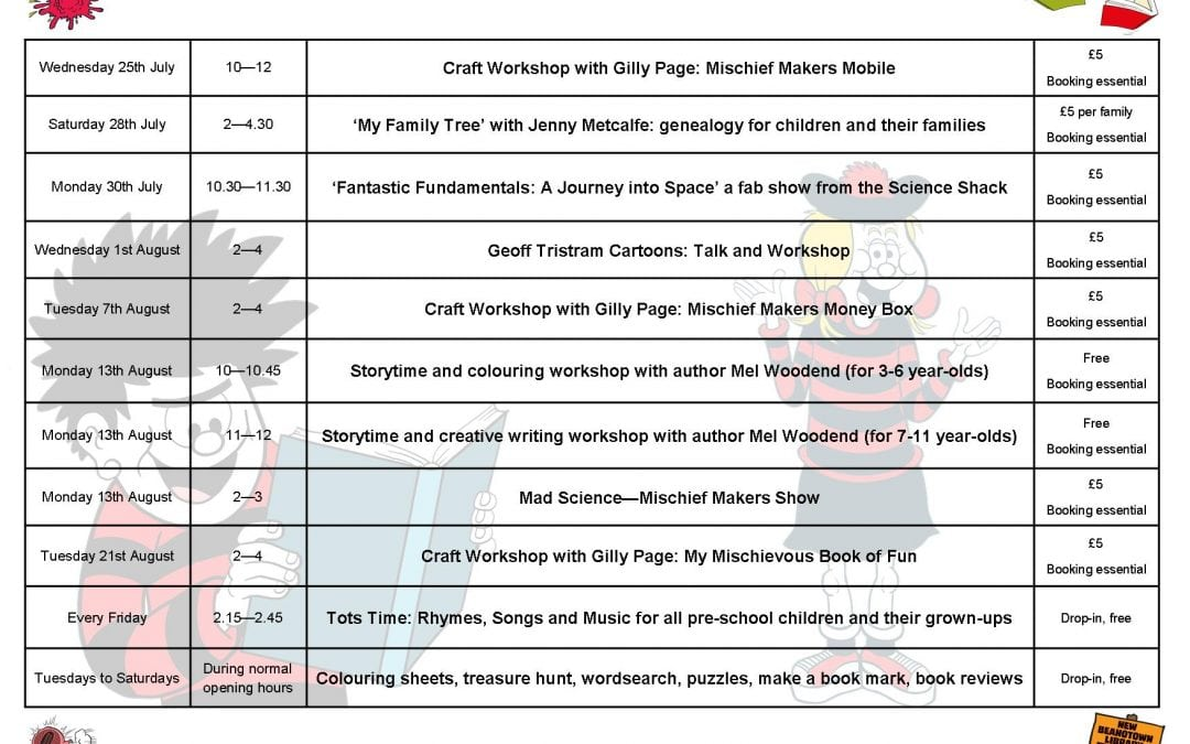 Summer Reading Challenge: Events Programme