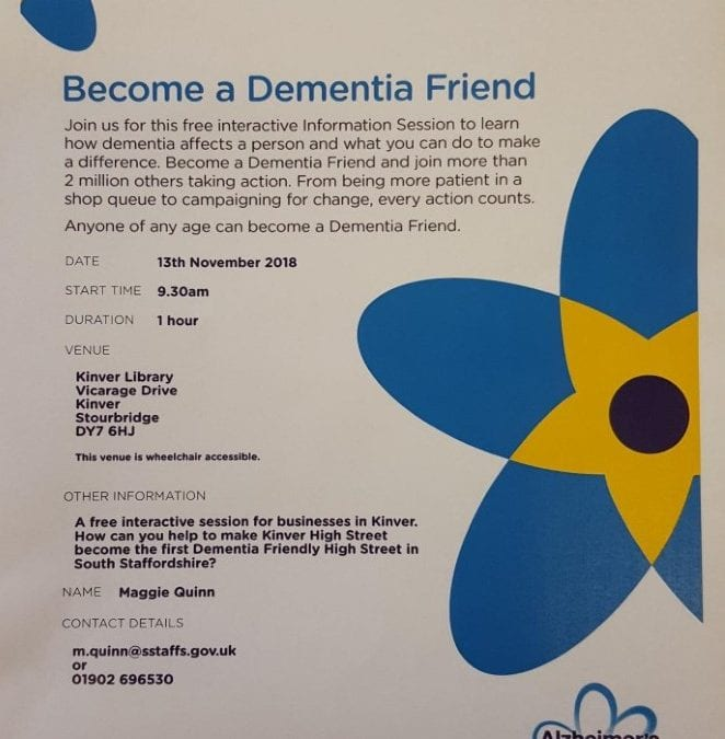 Calling all local businesses: become a Dementia Friend